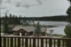 Roche Lake Resort Deck View